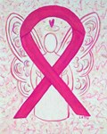 Hot Pink Awareness Ribbon Angel