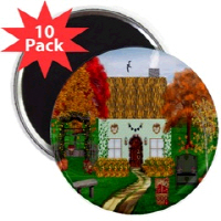 Irish Village Series© Pin Buttons & Magnets