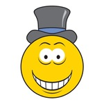 Top Hat Smiley Face