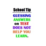 SCHOOL TIP - GUESSING ANSWERS ON TEST
