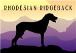 Ridgeback Dog Mountains
