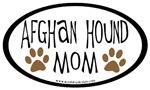 Afghan Hound Mom Oval
