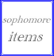 Sophomore items