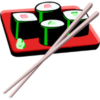 California Roll Wasabi Sushi T Shirts and Gifts