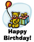 Cool Birthday Bear with Balloon T Shirts Gifts