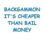 a funny backgammon joke on gits and t-shirts.