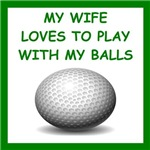 a funny golf joke on gift sand t-shirts.