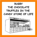funny rugby joke on gifts and t-shits.