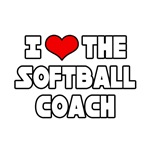 I Love The Softball Coach