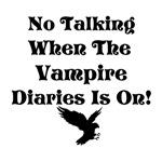 No Talking Vampire Diaries, black