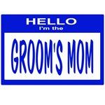 Grooms Mom Nametag (blue)
