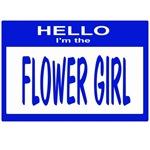 Flower Girl Nametag (blue)