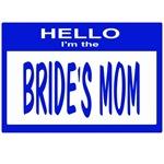 Brides Mom Nametag (blue)