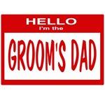 Grooms Dad Nametag (red)