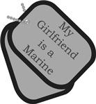 My Girlfriend is a Marine dog tag design