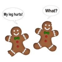 NEW! Gingerbread Man My Leg Hurts...What? T-Shirts
