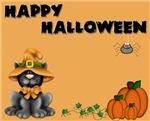 Black Cat/Pumpkins
