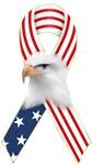 Patriotic Ribbon w/Eagle