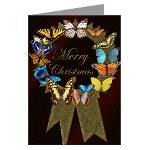 Butterfly Wreath Christmas Cards
