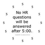 Human Resource clock