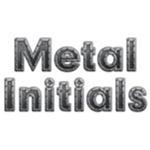 Metal Initials Ovals