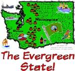 WA - The Evergreen State!