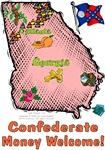 GA - Confederate Money Welcome! (1956 flag)