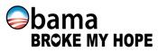 Obama Broke My Hope