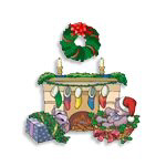 Christmas Fireplace Joy on T-Shirts & Gifts!