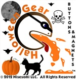 Halloween Gear Buttons & Magnets