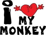 I Love My Monkey T-Shirts Gifts