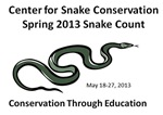 Spring 2013 Snake Count