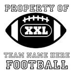 Personalizable Football Team Gear