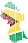 Guyana Flag And Map