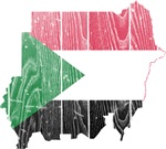 Sudan Flag And Map