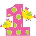 Heart Birds 1st Birthday