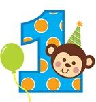 Boy Monkey 1st Birthday
