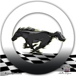 Mustang Horse Logo