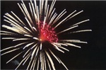 White and Red Firework