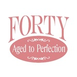 40th birthday forty aged to perfection t-shirts