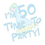 I'm 50, time to party! Women's 50th birthday