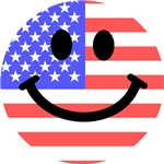 American Flag Smiley Face