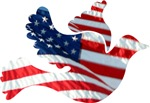 USA American Flag Freedom Dove