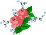 Vintage English Pink Roses