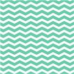 Aqua Teal Chevron Pattern