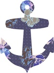Girly Floral Anchor