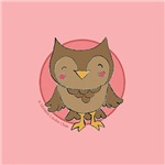Cute Pink Girly Owl