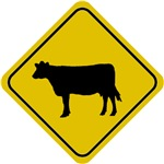 Cow Crossing Sign