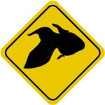 Goldfish Crossing Sign