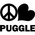 Peace Love Puggle